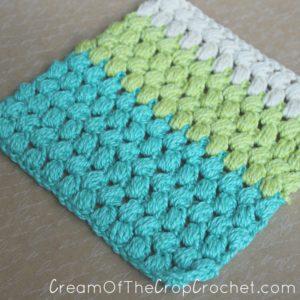 Cream Of The Crop Crochet ~ Ombre Puffy Washcloth/Dishcloth {Free Crochet Pattern}