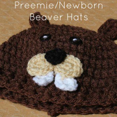Preemie Newborn Beaver Hat Crochet Pattern