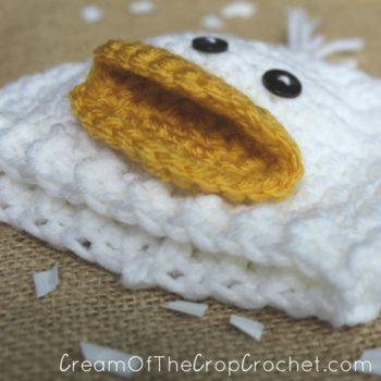 Cream Of The Crop Crochet ~ Preemie/Newborn Duck Hats {Free Crochet Pattern}