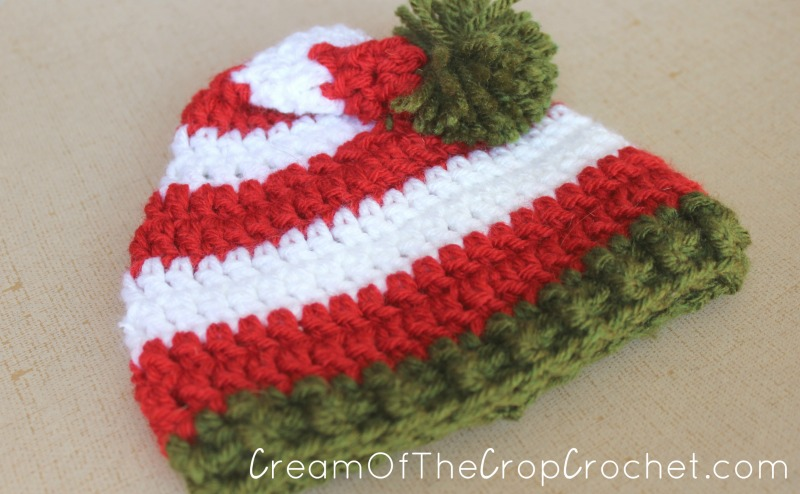 Preemie Newborn Elf Hat Crochet Pattern | Cream Of The Crop Crochet