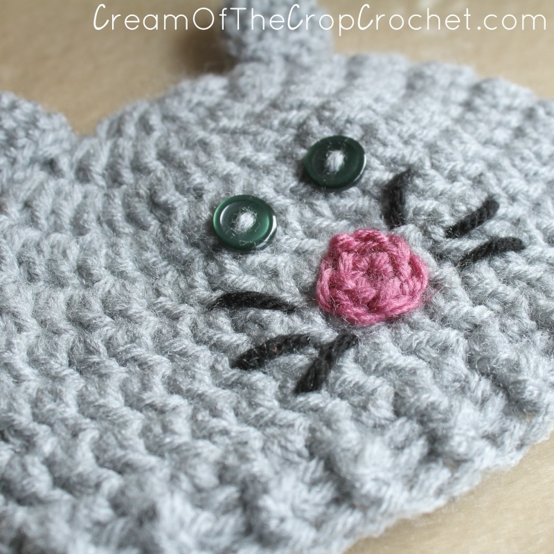 Preemie Newborn Kitty Hat Crochet Pattern Cream Of The Crop Crochet