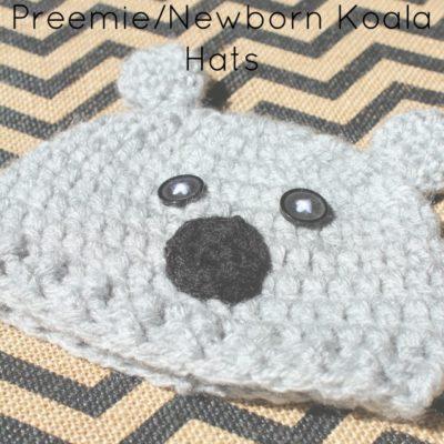 Preemie Newborn Koala Hat Crochet Pattern