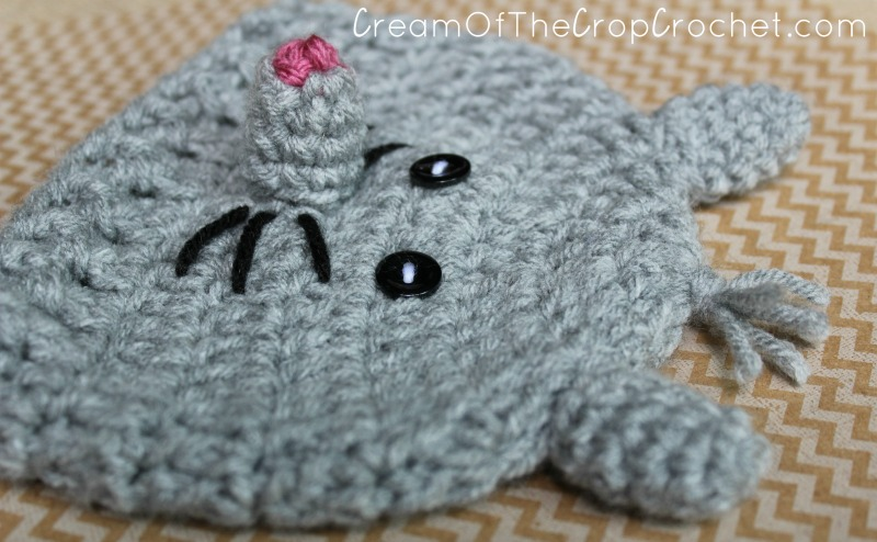 Preemie Newborn Mouse Hat Crochet Pattern | Cream Of The Crop Crochet