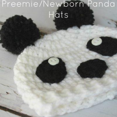 Preemie Newborn Panda Hat Crochet Pattern