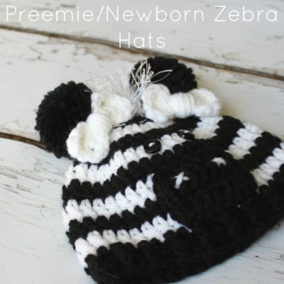 Preemie Newborn Zebra Hat Crochet Pattern