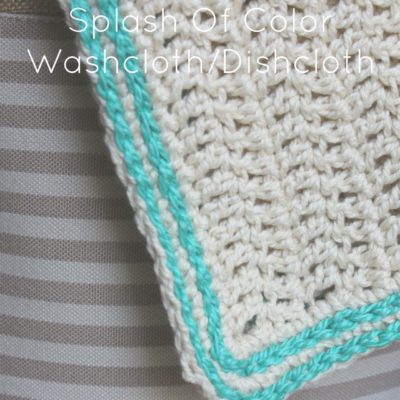 Spark Of Color Washcloth Dishcloth Crochet Pattern