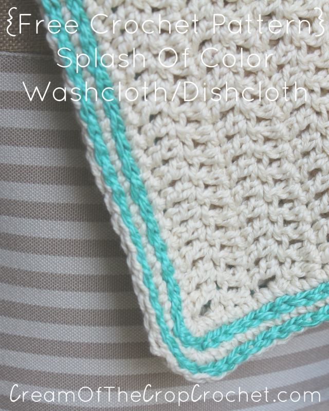 Spark Of Color Washcloth Dishcloth Crochet Pattern Cream Of The