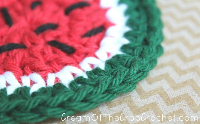 Watermelon Face Scrubbie Crochet Pattern Cream Of The Crop Crochet