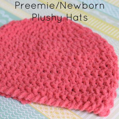 Preemie Newborn Plushy Hat Crochet Pattern