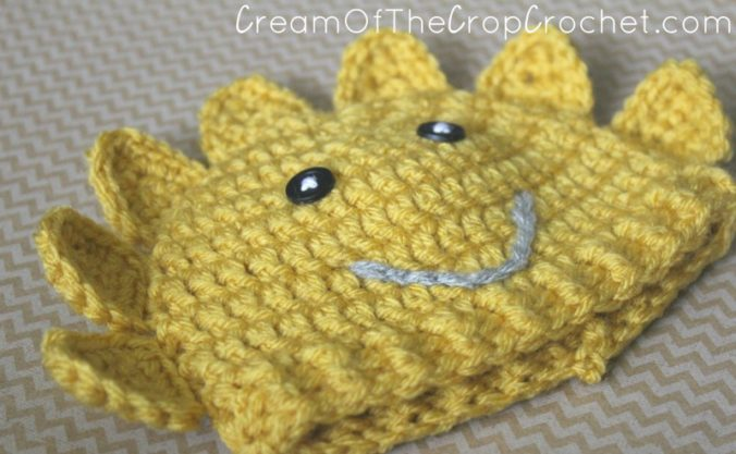 Preemie Newborn Sun Hat Crochet Pattern | Cream Of The Crop Crochet