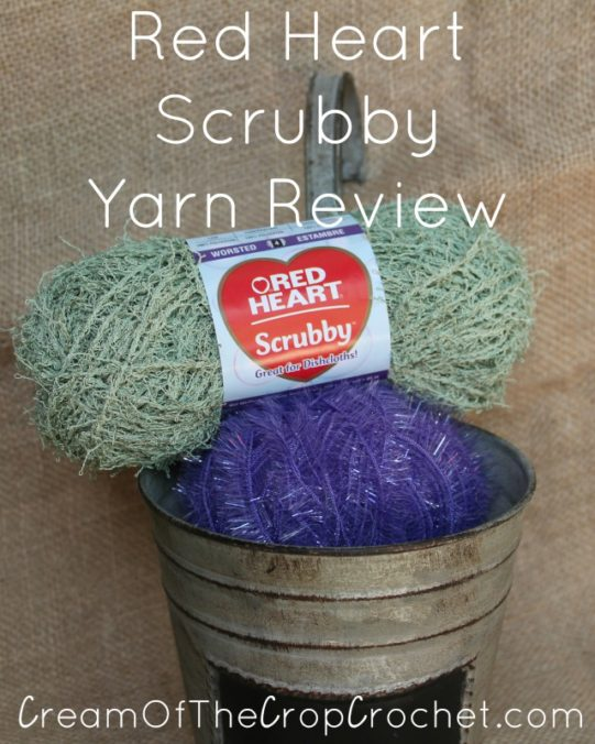 Cream Of The Crop Crochet ~ Red Heart Scrubby {Yarn Review}