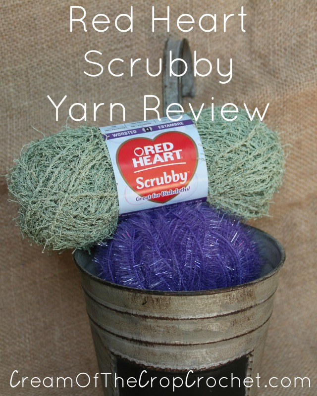 Red Heart Scrubby Yarn Review Cream Of The Crop Crochet