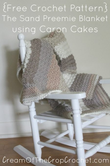 Caron Cakes Baby Blanket Sandy