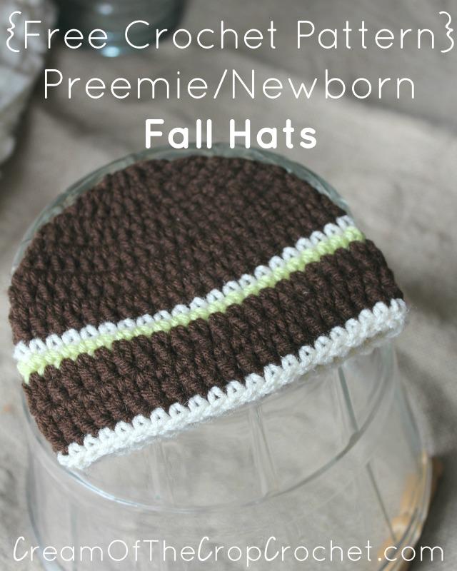 Preemie Newborn Noah Hat Crochet Pattern Cream Of The Crop Crochet