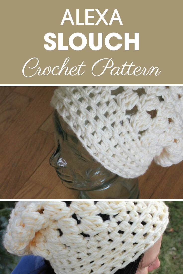 This Trendy Slouchy is easy and fast to work up many last minute for gifts or a craft show! This is one of the unique patterns that uses 2 strands of worsted weight yarn. #crochet #crochetlove #crochetaddict #crochetpattern #crochetinspiration #ilovecrochet #crochetgifts #crochet365 #addictedtocrochet #yarnaddict #yarnlove #crochethat