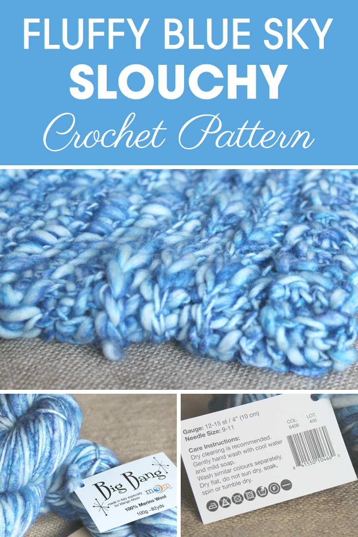 This wonderful Big Bang yarn is a fun yarn to use, and came in great packaging! I see this yarn as a fluffy blue sky. #crochet #crochetlove #crochetaddict #crochetpattern #crochetinspiration #ilovecrochet #crochetgifts #crochet365 #addictedtocrochet #yarnaddict #yarnlove #crochethat