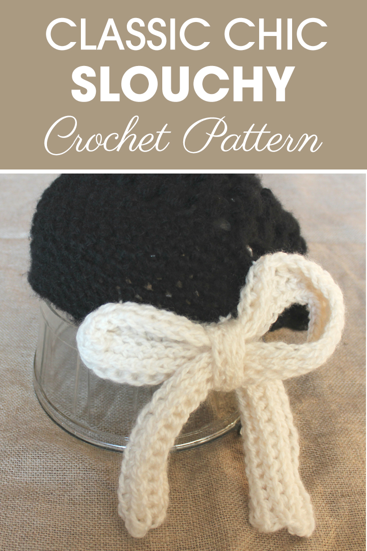 This Classy Chic Slouchy works up really fast and easy with bulky yarn and a 9.00mm hook! #crochet #crochetlove #crochetaddict #crochetpattern #crochetinspiration #ilovecrochet #crochetgifts #crochet365 #addictedtocrochet #yarnaddict #yarnlove #crochethat