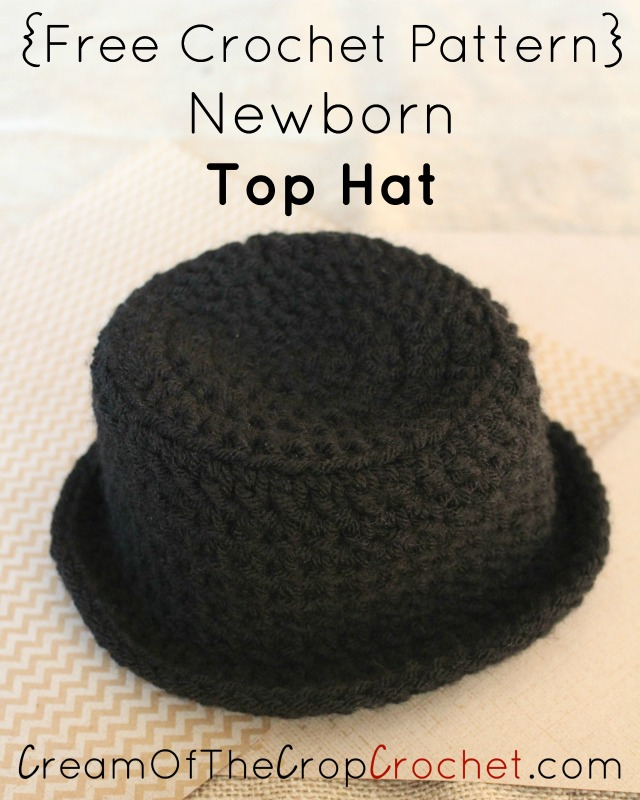 Newborn Top Hat Crochet Pattern Cream Of The Crop Crochet