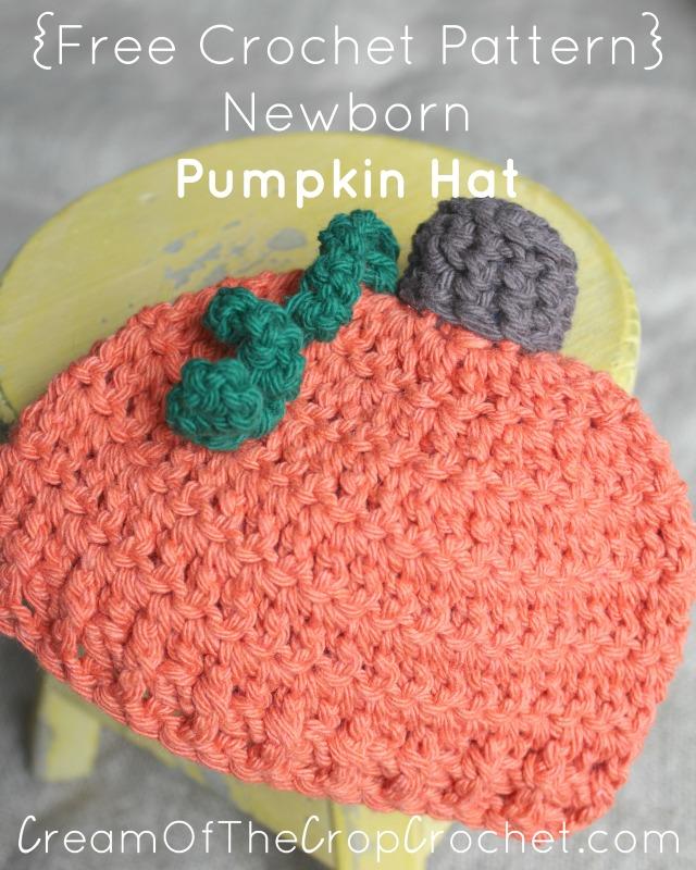 Newborn Pumpkin Hat Crochet Pattern Cream Of The Crop Crochet