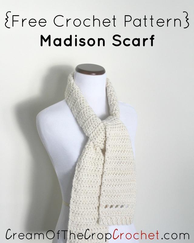 Madison Scarf Crochet Pattern | Cream Of The Crop Crochet