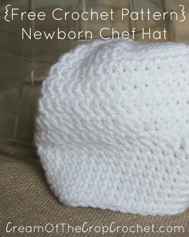 Newborn Chef Hat Crochet Pattern   Cream Of The Crop Crochet