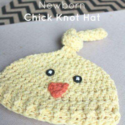 Newborn Chick Knot Hat Crochet Pattern