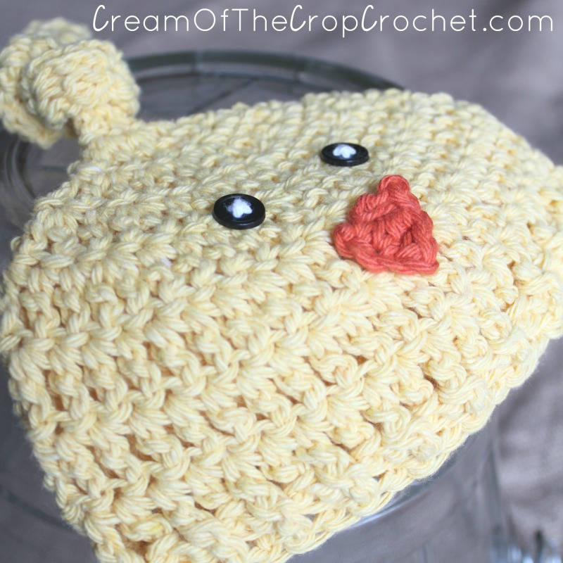 Newborn Chick Knot Hat Crochet Pattern   Cream Of The Crop Crochet