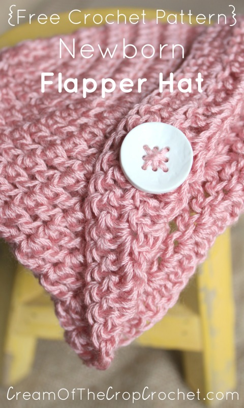 Newborn Flapper Hat Crochet Pattern Cream Of The Crop Crochet