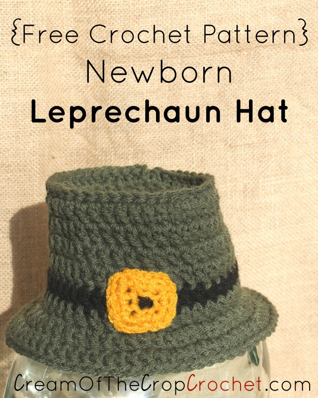 Newborn Leprechaun Hat Crochet Pattern  2cf10d00b80