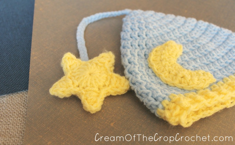Cream Of The Crop Crochet ~ Newborn Nightcap Hat  Free Crochet Pattern  dc7bcd8bd09