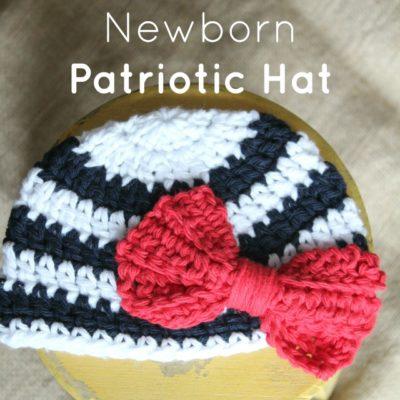 Newborn Patriotic Hat Crochet Pattern