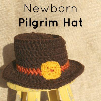 Newborn Pilgrim Hat Crochet Pattern