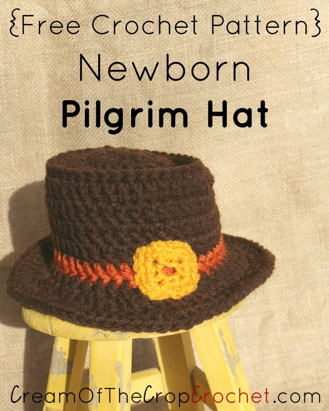 Newborn Pilgrim Hat Crochet Pattern Cream Of The Crop Crochet
