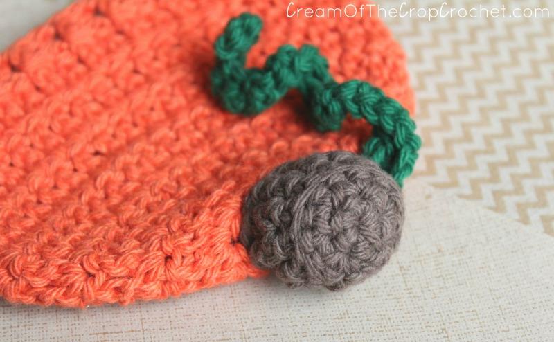 Cream Of The Crop Crochet Newborn Pumpkin Hat Free Crochet