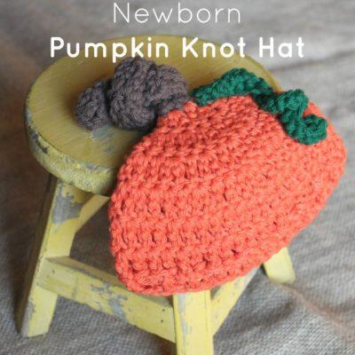 Newborn Pumpkin Knot Hat Crochet Pattern