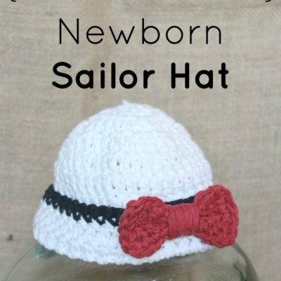 Newborn Sailor Hat Crochet Pattern