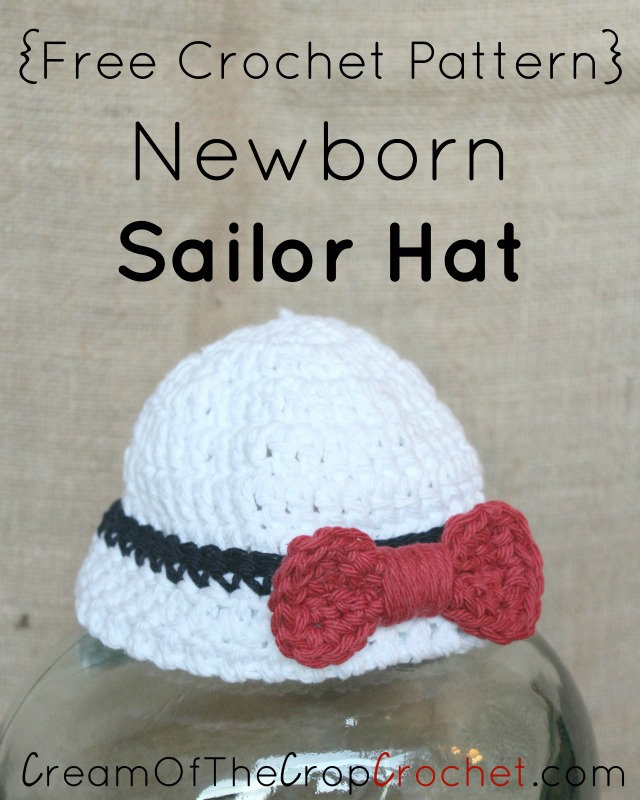 Newborn Sailor Hat Crochet Pattern Cream Of The Crop Crochet