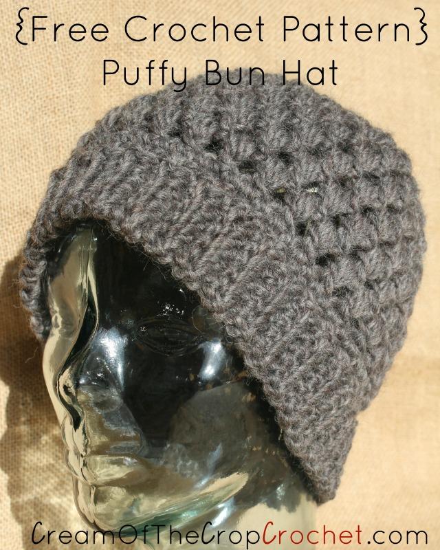 Makenzie Bun Hat Crochet Pattern Cream Of The Crop Crochet