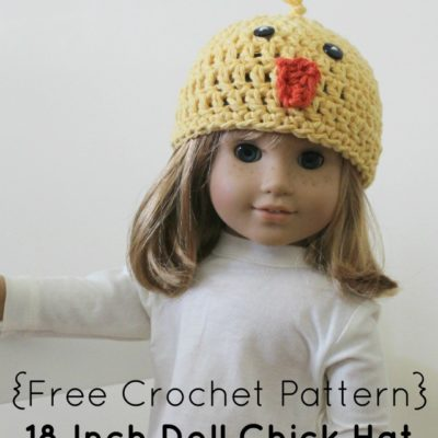 18 Inch Doll Chick Hat Crochet Pattern