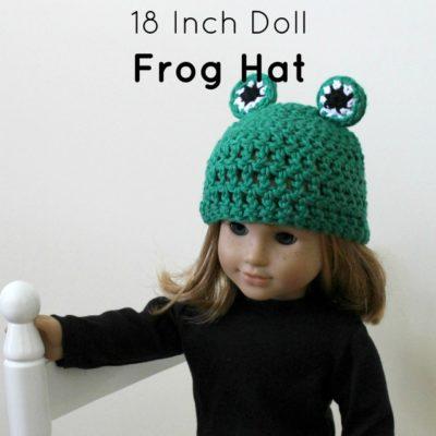 18 Inch Doll Frog Hat Crochet Pattern