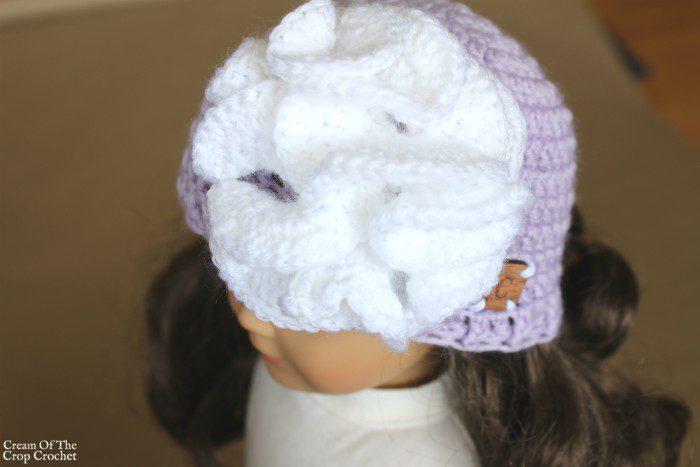 18 Inch Doll Skylar Hat Crochet Pattern | Cream Of The Crop Crochet