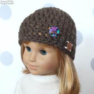 18 Inch Doll Tori Hat Crochet Pattern | Cream Of The Crop Crochet