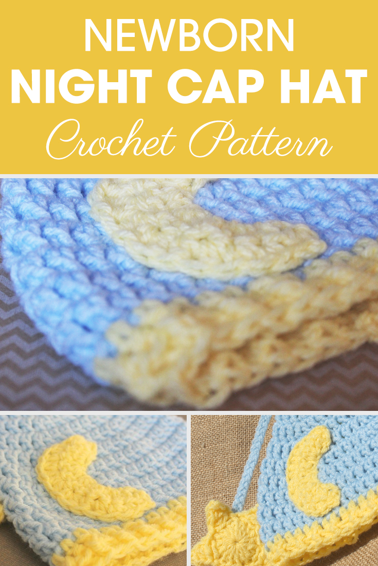 Newborn Nightcap Hat Crochet Pattern | Cream Of The Crop Crochet