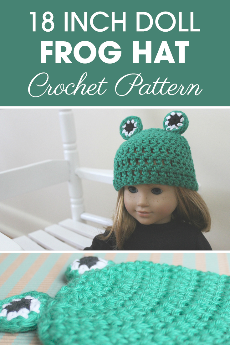 18 Inch Doll Frog Hat Crochet Pattern | Cream Of The Crop Crochet