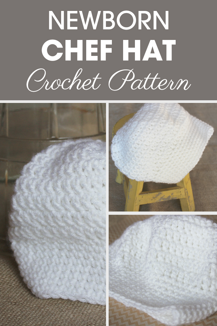 Newborn Chef Hat Crochet Pattern | Cream Of The Crop Crochet