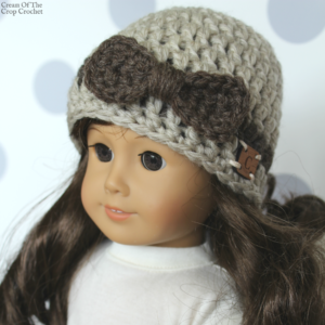 18 Inch Doll Danielle Hat Crochet Pattern | Cream Of The Crop Crochet