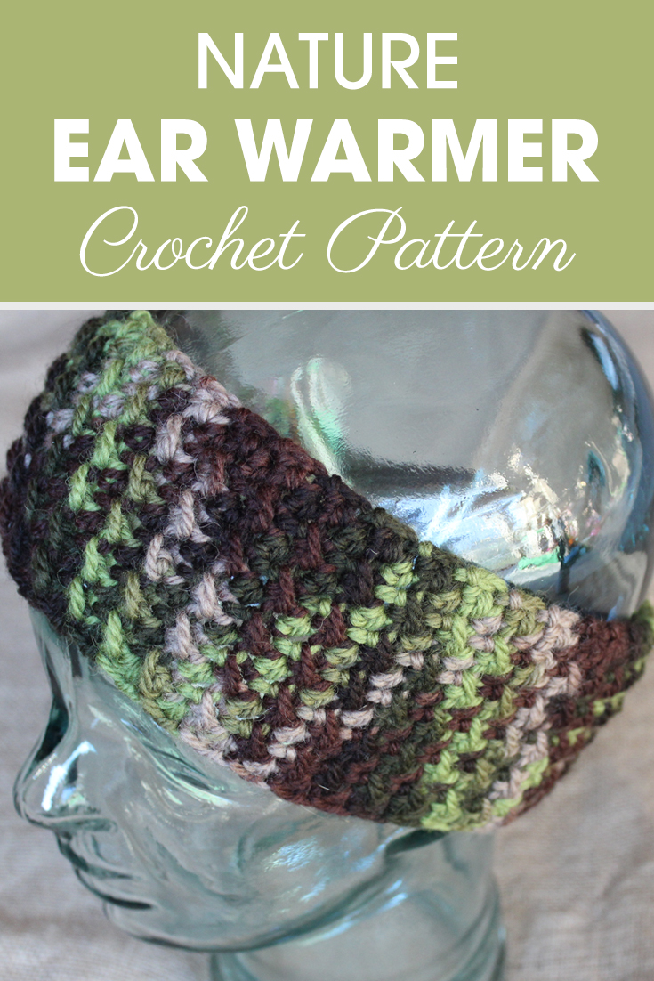 This post will show you how to make the Nature Ear Warmers, with the moss stitch to make a nice texture. This technique may look familiar from the Nature Slouchy I designed last year. I hope y'all love it just as much as I do! #crochet #crochetlove #crochetaddict #crochetpattern #crochetinspiration #ilovecrochet #crochetgifts #crochet365 #addictedtocrochet #yarnaddict #yarnlove #crochetaccessory
