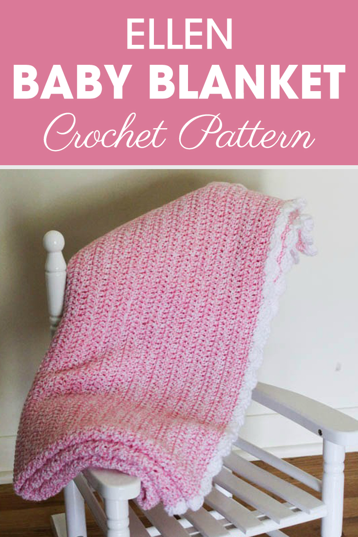 This Simple Easy Baby Blanket is a great first big project to learn how to read a crochet pattern! #crochet #crochetlove #crochetaddict #crochetpattern #crochetinspiration #ilovecrochet #crochetgifts #crochet365 #addictedtocrochet #yarnaddict #yarnlove #crochetblanket
