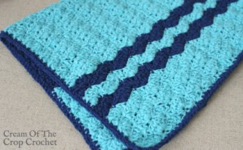 Shells Preemie Blanket Crochet Pattern | Cream Of The Crop Crochet