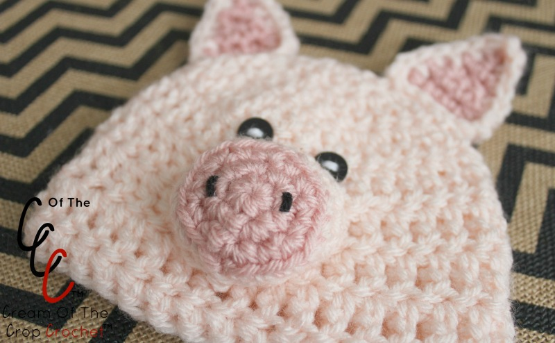 18 Inch Doll Pig Hat Crochet Pattern Cream Of The Crop Crochet